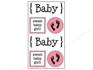 SRM Stickers $2 - $3: SRM Press Sticker Quick Cards Baby Girl