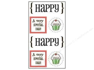 SRM Stickers Craft Organizers: SRM Press Sticker Quick Cards Happy