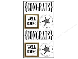 Party & Celebrations SRM Press Sticker: SRM Press Sticker Quick Cards Congrats