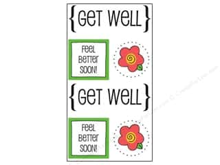 SRM Stickers Papers: SRM Press Sticker Quick Cards Get Well
