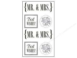 theme stickers  wedding: SRM Press Sticker Quick Cards Mr. & Mrs.