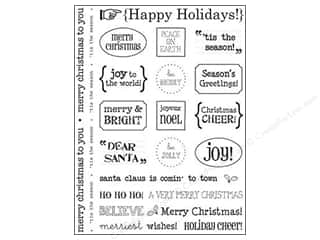 SRM Press Sticker Sentiments Happy Holidays