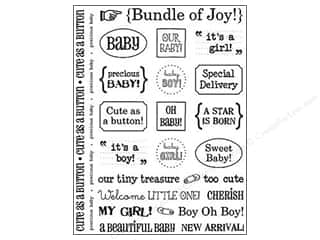Baby Black: SRM Press Sticker Sentiments Baby