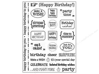 Unique Stickers: SRM Press Sticker Sentiments Happy Birthday