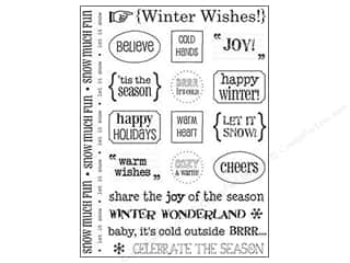 Winter Wonderland Stickers: SRM Press Sticker Sentiments Winter