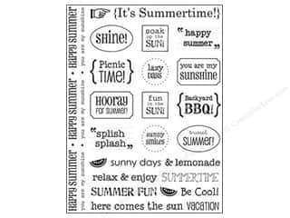 Summer: SRM Press Sticker Sentiments Summer