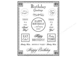 SRM Press Sticker Fancy Sentiments Birthday