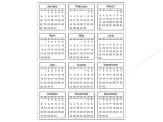 SRM Press Sticker Calendar Mini 2013 Standard