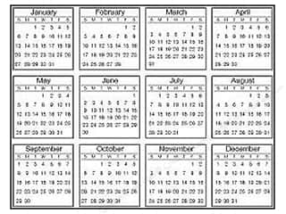 Calendars Clearance Crafts: SRM Press Sticker Calendar Tiny 2013
