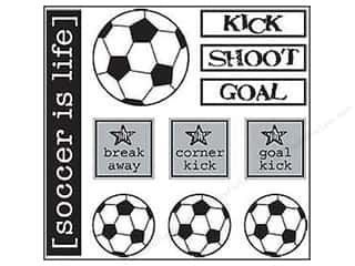 SRM Stickers Craft Organizers: SRM Press Sticker Have A Ball Soccer