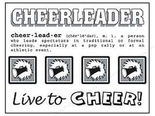 Sports SRM Press Sticker: SRM Press Sticker Say It With Stickers Cheerleader