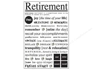 SRM Press Sticker Express Yourself Retirement