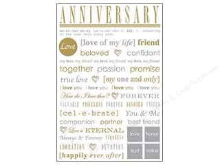 Anniversaries Scrapbooking & Paper Crafts: SRM Press Sticker Express Yourself Anniversary