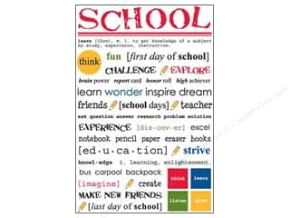 Craft Embellishments Back to School: SRM Press Sticker Express Yourself School