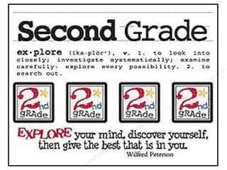 SRM Stickers Back to School: SRM Press Sticker Say It With Stickers Mini Second Grade