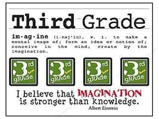 SRM Stickers Back to School: SRM Press Sticker Say It With Stickers Mini Third Grade
