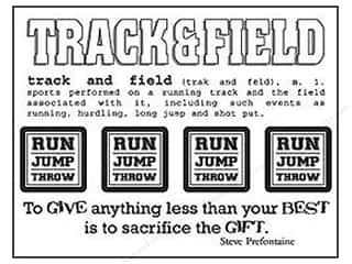 SRM Stickers Back to School: SRM Press Sticker Say It With Stickers Track & Field