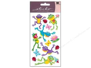 EK Sticko Sticker Sparkler Happy Frogs