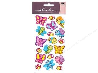 Insects Stickers: EK Sticko Stickers Sparkler Butterfly Friends