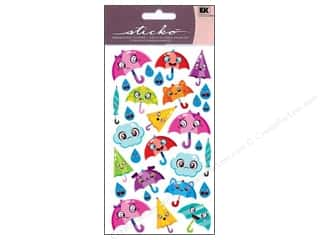 EK Sticko Stickers Sparkler Umbrella Friends