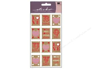 Love & Romance Stamps: EK Sticko Stickers Love Stamps