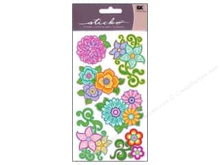 EK Sticko Stickers Flourishy Flowers
