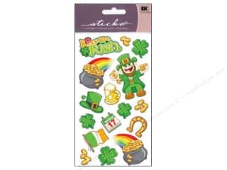 Saint Patrick's Day Quilting: EK Sticko Stickers March 17