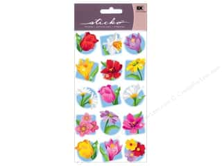 sticker: EK Sticko Stickers Floral Seals