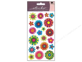 theme stickers  summer: EK Sticko Stickers Sparkler Summer Floral Mix