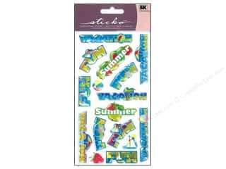 EK Sticko Stickers Sparkler Vacation Words