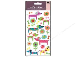 Pets Stickers: EK Sticko Stickers Patterned Puppies