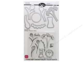 Flower Vases: Sizzix Framelits Die Set 7PK with Stamps Flowers & Vase by Stephanie Barnard