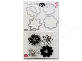 Sizzix Stamps: Sizzix Framelits Die Set 5 PK with Stamps Flowers #4 by Stephanie Barnard