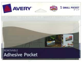 "Avery Adh Pocket Wall Small 8""x 4"" Contemporary"