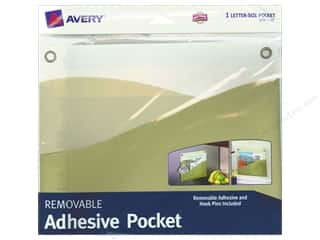 "Files 10"": Avery Removable Wall Pocket 10 x 12 1/4 in. Sage Green"