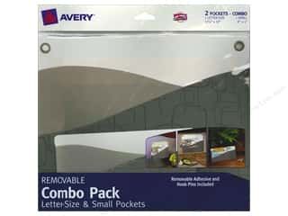 Avery Adhesive Pocket Wall Combo Letter Size/Small Contemporary