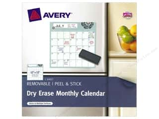 Erasers: Avery Dry Erase 12 x 12 in. Monthly Calendar (3 sheet)
