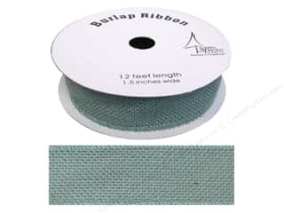"SPC Ribbon Spool Burlap 1.5"" Blue 12ft"