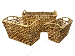 Novelty Items $1 - $3: Sierra Pacific Rectangle Basket with Curved Handles Set of 3