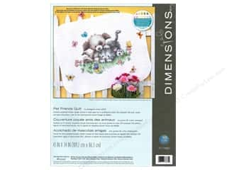 Dimensions Cross Stitch Kit Stamp Pet FriendsQuilt