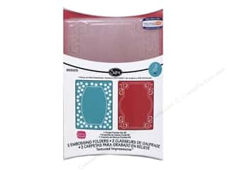 "Embossing Aids 4"": Sizzix Embossing Folders Stephanie Barnard Textured Impressions Ornate Frames #2"