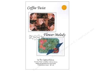 Quilting Brown: Quilted Button Coffee Twist/Flower Medley Pattern