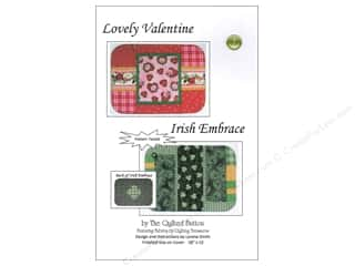 Straight Stitch Fat Quarters Patterns: Quilted Button Lovely Valentine/Irish Embrace Pattern