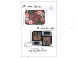 Autumn Leaves $15 - $18: Quilted Button Autumn Leaves/Winter Woods Pattern