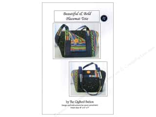 "Quilted Button, The 4"": Quilted Button Beautiful & Bold Placemat Tote Pattern"
