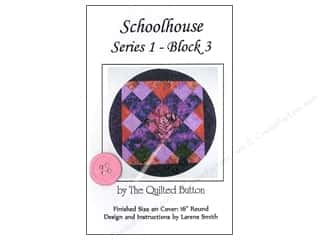 "Quilted Button, The 4"": Quilted Button Schoolhouse Series 1 Block 3 Pattern"
