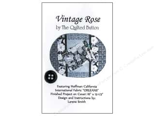 "Bosal 12"": Quilted Button Vintage Rose Pattern"