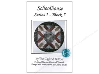 Quilted Button, The: Quilted Button Schoolhouse Series 1 Block 7 Pattern