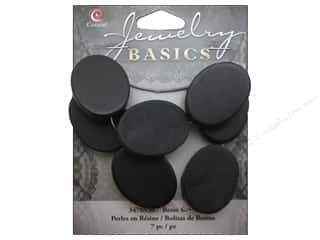 Cousin Bead Resin Oval 19mm x 26mm Black 7pc