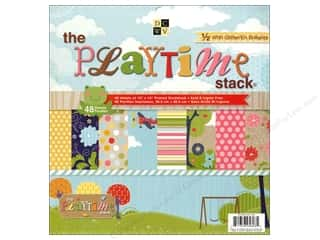 2013 Crafties - Best Scrapbooking Supply DieCuts Paper Stacks: DieCuts 12 x 12 in. Paper Stack Playtime